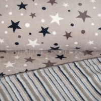 Wellness Double Fleece stars sand KC4009-555