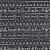 Jersey Printed Knitted Winter Wonderland Grey 63347