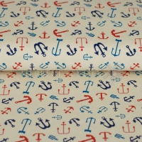 Kiko Jersey Maritime anchor background beige multi 124-873-3002