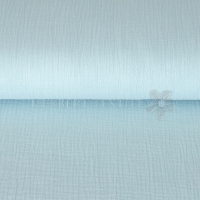 Cotton Hydrofieldoek Mousseline Double gauze uni light aqua 03959-006