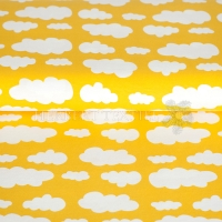 Kids Jersey clouds yellow 73003-12