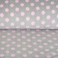 Wellness Fleece dots grey rose 123139-0811