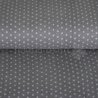 Cotton Hydrofieldoek Mousseline Double gauze crowns grey 01854-002