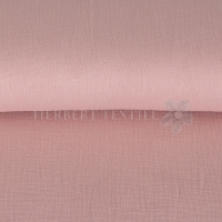 Cotton Hydrofieldoek Mousseline Double gauze uni old rose 03959-007