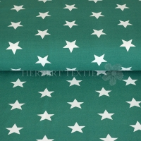 Tricot/Jersey stars 3cm green 01915-010