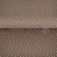 Cotton Mousseline double gauze little dots taupe 04671-009