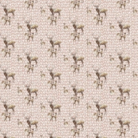 Tassenstof Cotton deer family light rose 06436-003