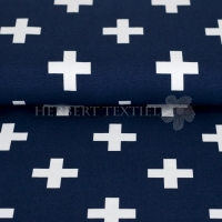 Stenzo Bio-Cotton Jersey big cross navy white 2600-15