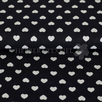 Kiko Spring cotton hearts white navy 0353-20