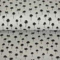 Piqué Polo print palm trees grey KC2053-065