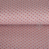 Cotton Mousseline Double gauze flowers rose 01333-003
