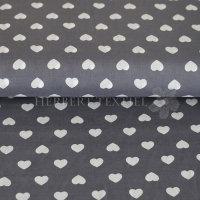 Kiko Spring cotton hearts white grey 0353-36