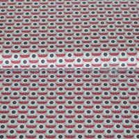 Cotton dazzling daisy red mint 01946-002