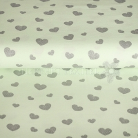 Stenzo Jersey glitter hearts light lindgreen 13634-10