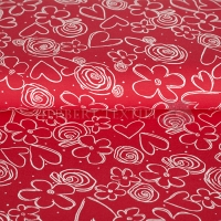 Kids Jersey flowers painted red 73004-13