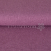 Cotton Hydrofieldoek Mousseline Double gauze uni dark berry 03959-013