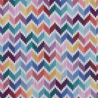 Digital Printing Knitted Chevron Multi White 63320
