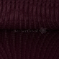 Grober Strickstoff Kabel / Cotton Knitted Cable dark bordeaux