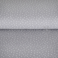 Cotton Mousseline double gauze little dots grey 04671-003