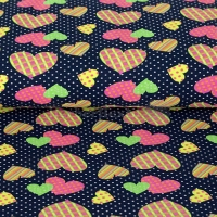 Kids Jersey Neon hearts dark blue 4933-1107