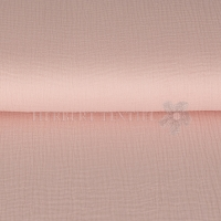 Cotton Hydrofieldoek Mousseline Double gauze light rose 03959-021
