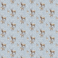 Tassenstof Cotton deer family light blue 06436-001