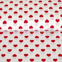 Kiko Spring cotton hearts red white 0353-02