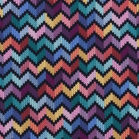 Digital Printing Knitted Chevron Multi Black 63321