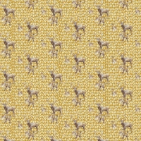 Tassenstof Cotton deer family ocre 06436-006