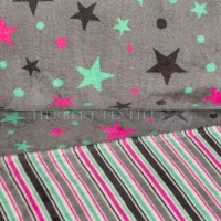 Wellness Double Fleece stars, dots and  stripes grey KC4014-461