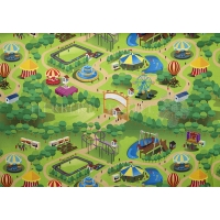 Vilt Filz adventure park apple green 130735