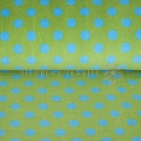 Wellness Fleece dots lime turquise 123139-0810