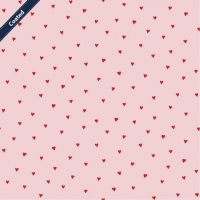 Wachstuch (Coated Cotton) hearts pink/red C7679-001