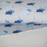 Softshell rain clouds light grey/blue 690047-3001