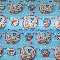 Digital Printing sailor girl aqua 04328-002