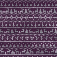 Jersey Printed Knitted Winter Wonderland Purple 63343