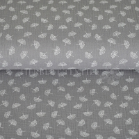 Cotton Hydrofieldoek Mousseline double gauze Ginko grey 04646-006