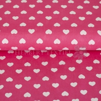 Kiko Spring cotton hearts white fuchsia 0353-21