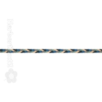 Kordel Flach Multi / Cord Flat Multi 8mm multi color