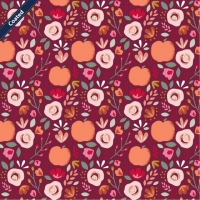 Wachstuch (Coated Cotton) easy peachy berry C7659-002