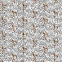 Tassenstof Cotton deer family light grey 06436-004