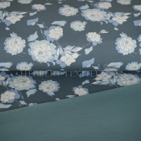 Softshell pretty flowers grey blue 690038-3004