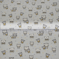 Cotton little cuties grey 01321-002