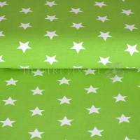 Tricot/Jersey stars 3cm lime 01915-012