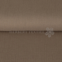Cotton Hydrofieldoek Mousseline Double gauze uni dark taupe 03959-009
