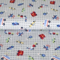 Flanel printed vehicles grey 130296-3005