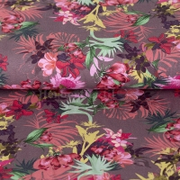 Jersey Digital aloha flowers mauve 07389-001