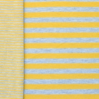 Jersey double stripes ocre-grey 60447