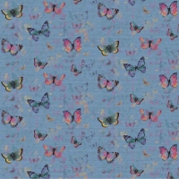 French Terry Digitalprint pretty butterflies jeansblue 06689-001