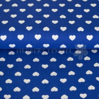 Kiko Spring cotton hearts white kobalt 0353-150